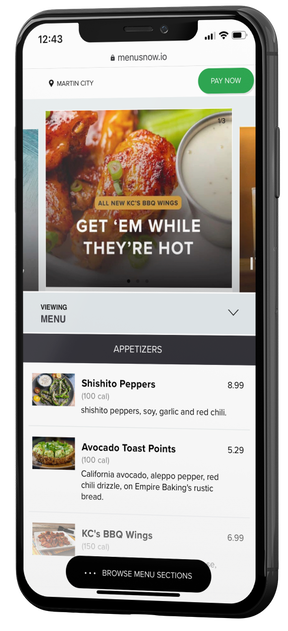 MenusNow: Contactless Digital Menu Solution