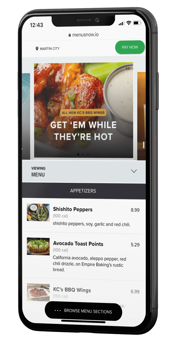 QR Code Powered Menu Software